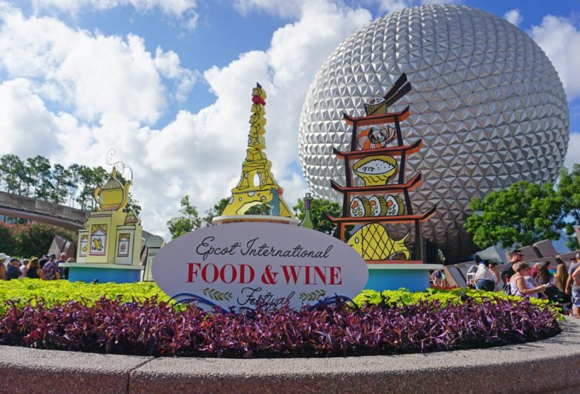 Epcot International Food and Wine Festival Guide Sign