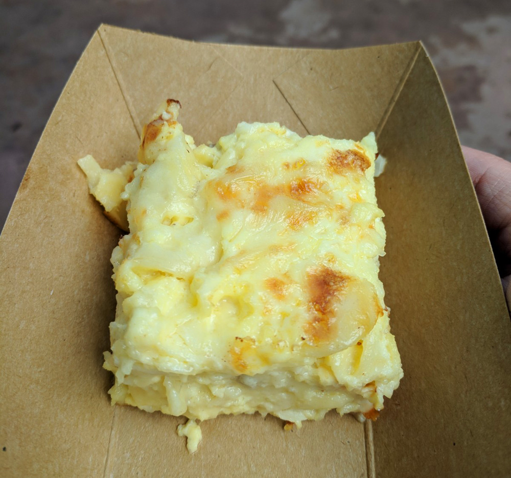 Potato and cheese casserole from the Epcot Food and Wine Germany kiosk