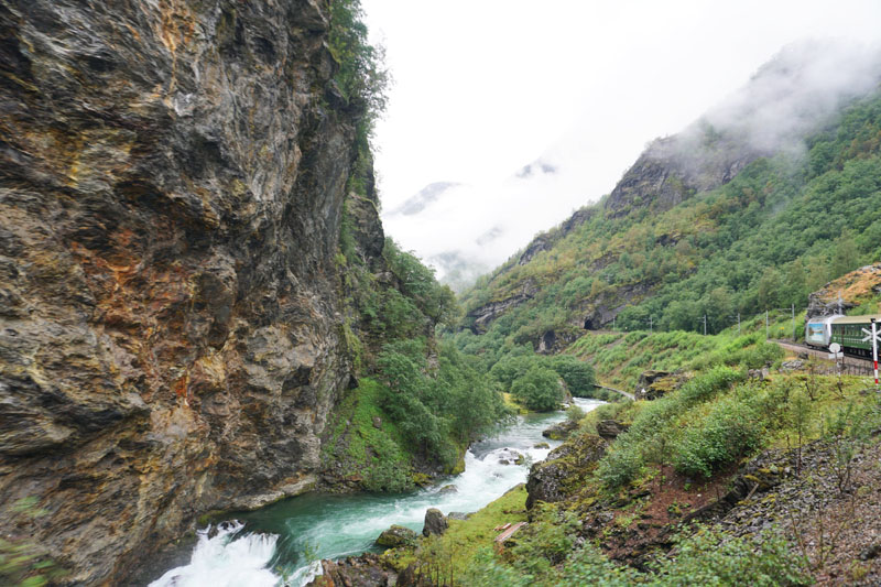River and mountains along the Flam Railway