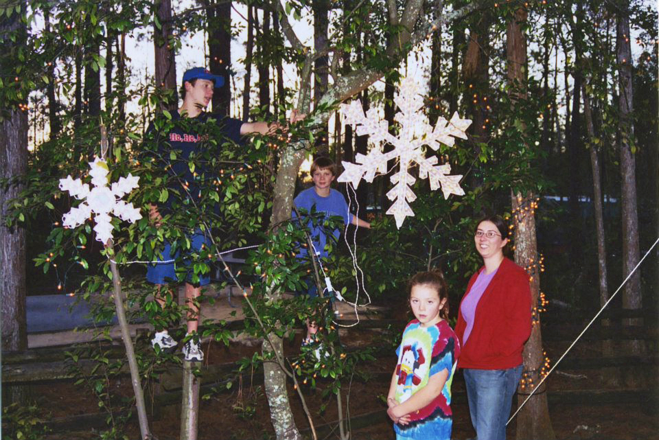 Decorating for Christmas at Fort Wilderness