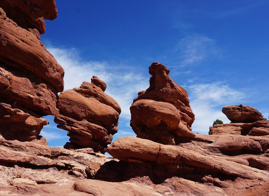 Rock formations at Garden of the Gods in Colorado Springs