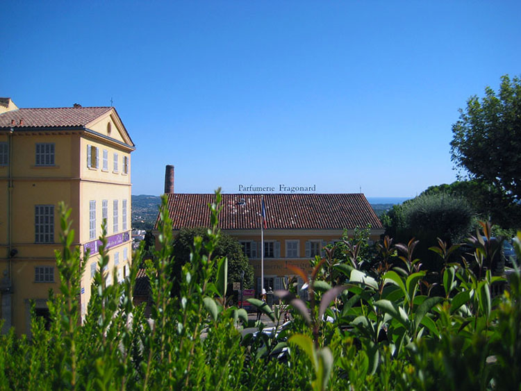 Buildings at the Grasse Fragonard perfume factory in France