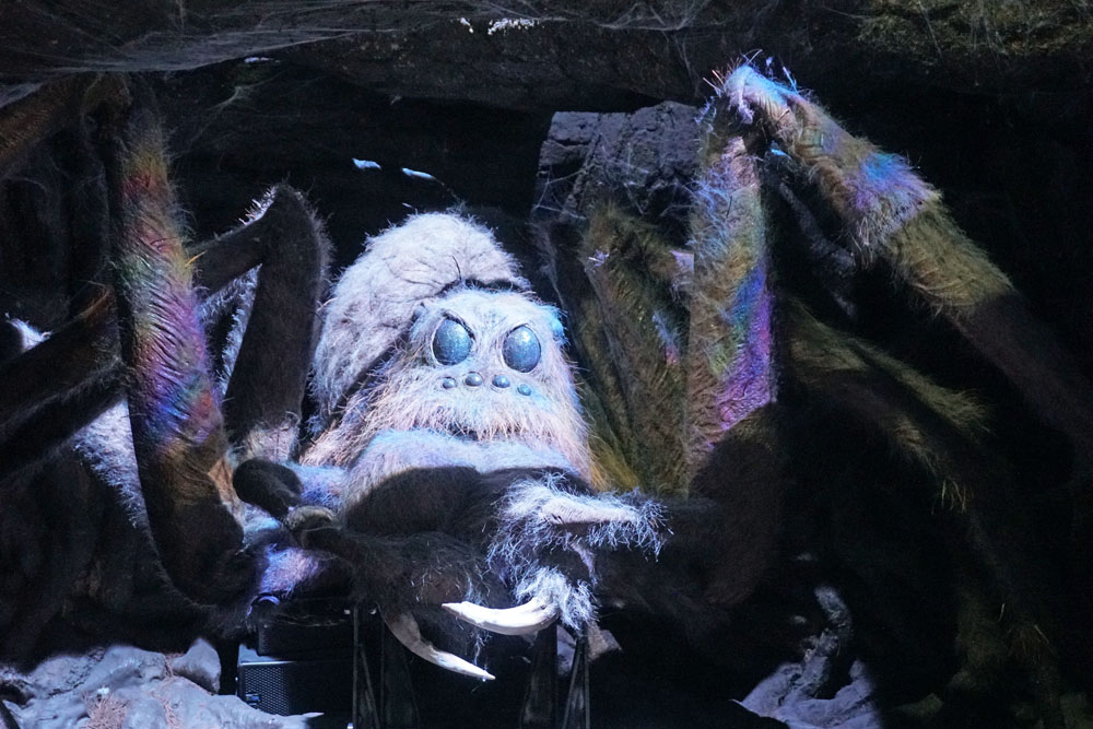 Giant spider from the Harry Potter films