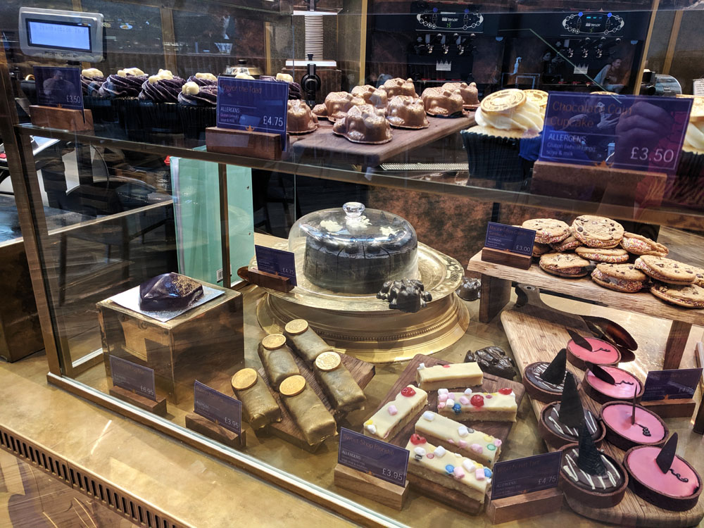 Desserts at the Harry Potter Studio tour