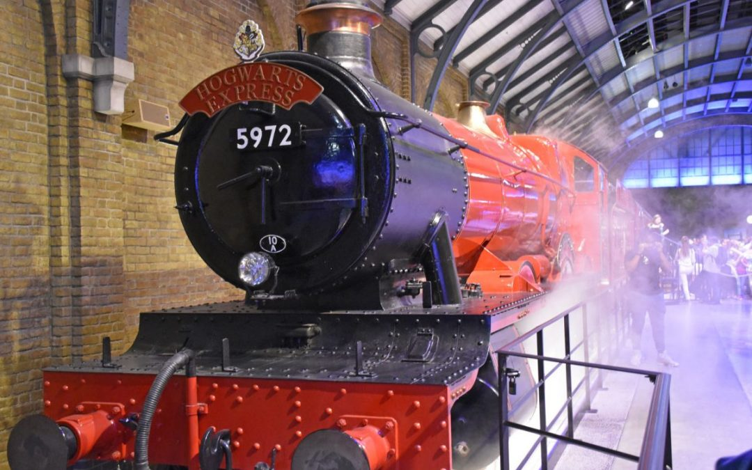 Hogwarts Express train as seen on the Harry Potter Studio Tour London