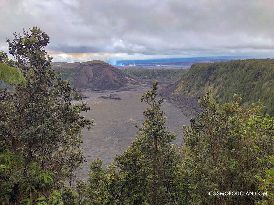 View of volcanic field at Hawaii Volcanoes National Park