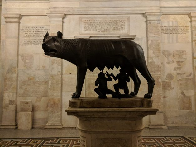 Statue of Romulus and Remus in the Musei Capitolini