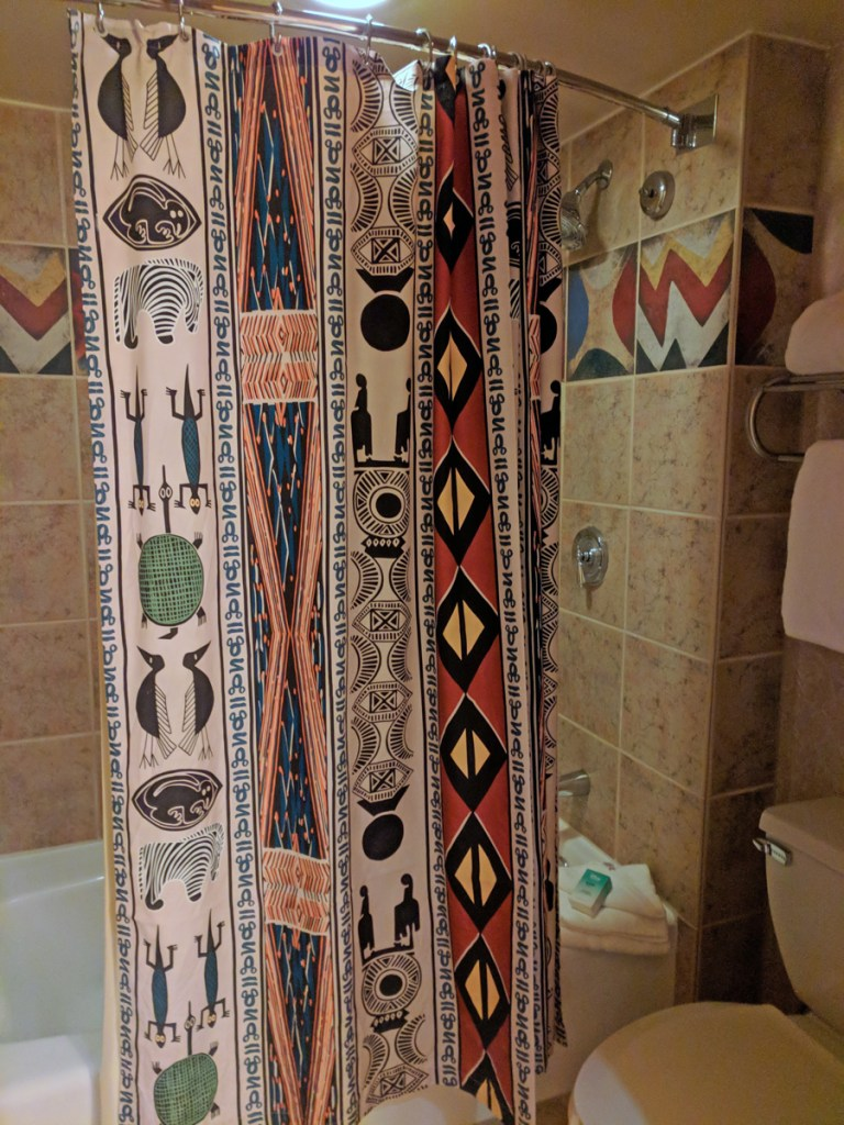 Bathroom in our Animal Kingdom Lodge room