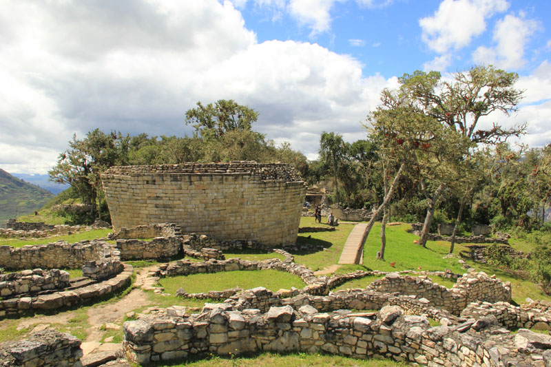 Photo of ruins at Kuelap, Peru