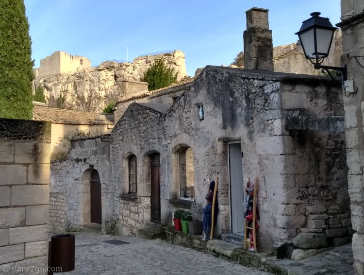 Historic buildings in Les Baux de Provence, France