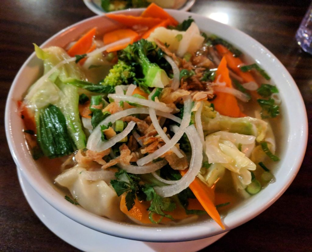 Noodle bowl at Lotus Pho - best noodles in South Lake Tahoe
