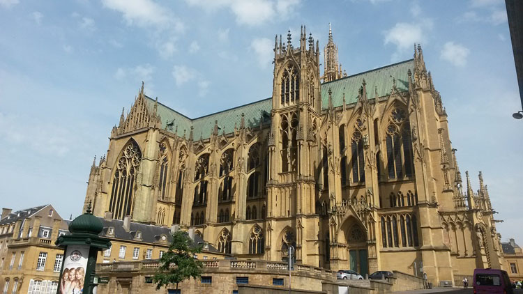 Cathedral in historic Metz, France