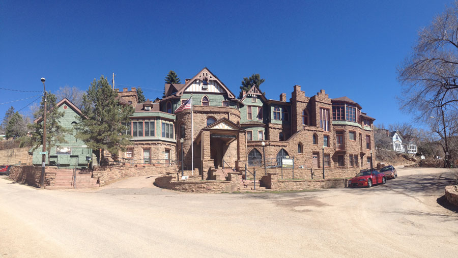 Large mansion called Miramont Castle in Colorado
