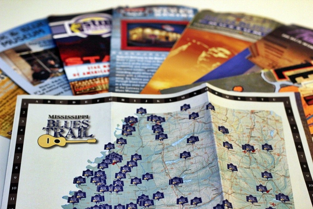Brochures for the Mississippi Blues Trail