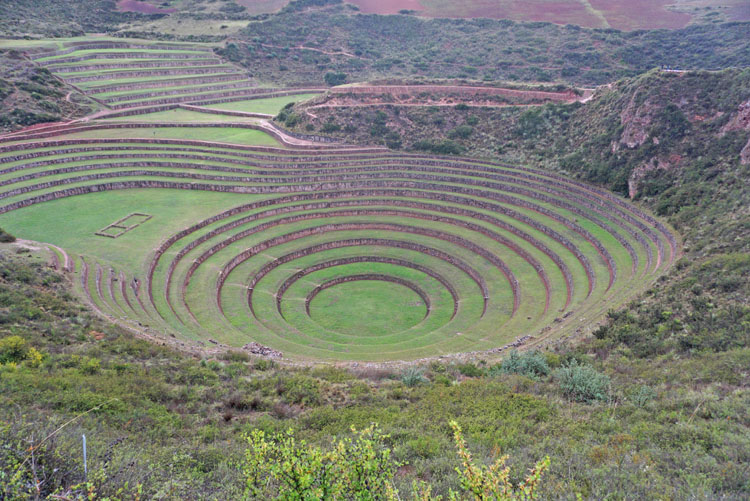 Incan ruins at Moray on our Cusco to Ollantaytambo tour