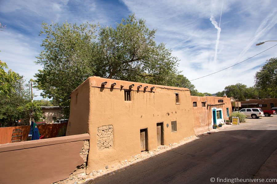 Historic De Vargas house in Santa Fe, New Mexico