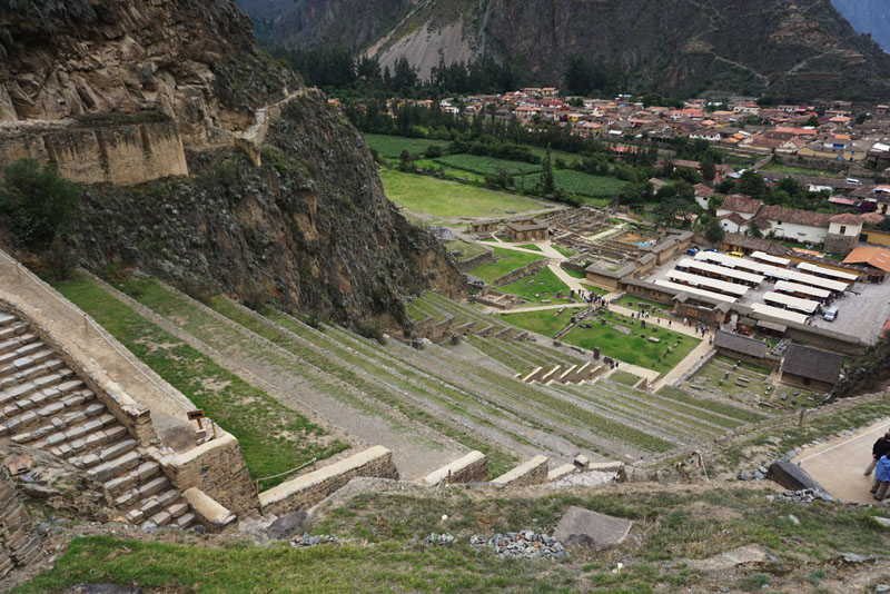 Terraces at the Incan ruins of Ollantaytambo