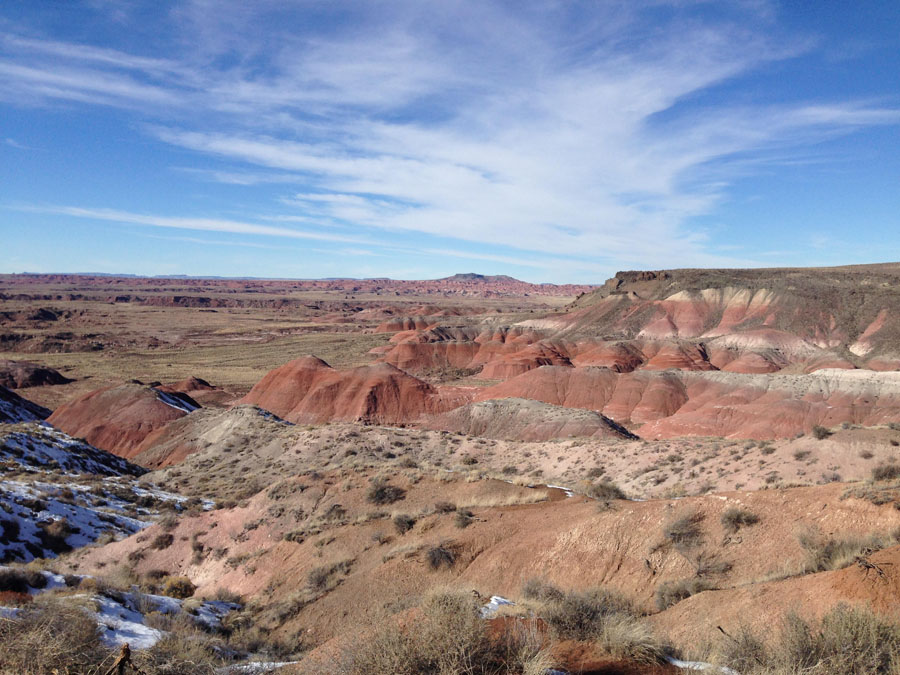Rock formations in the Painted Desert in Petrified Forest National Park