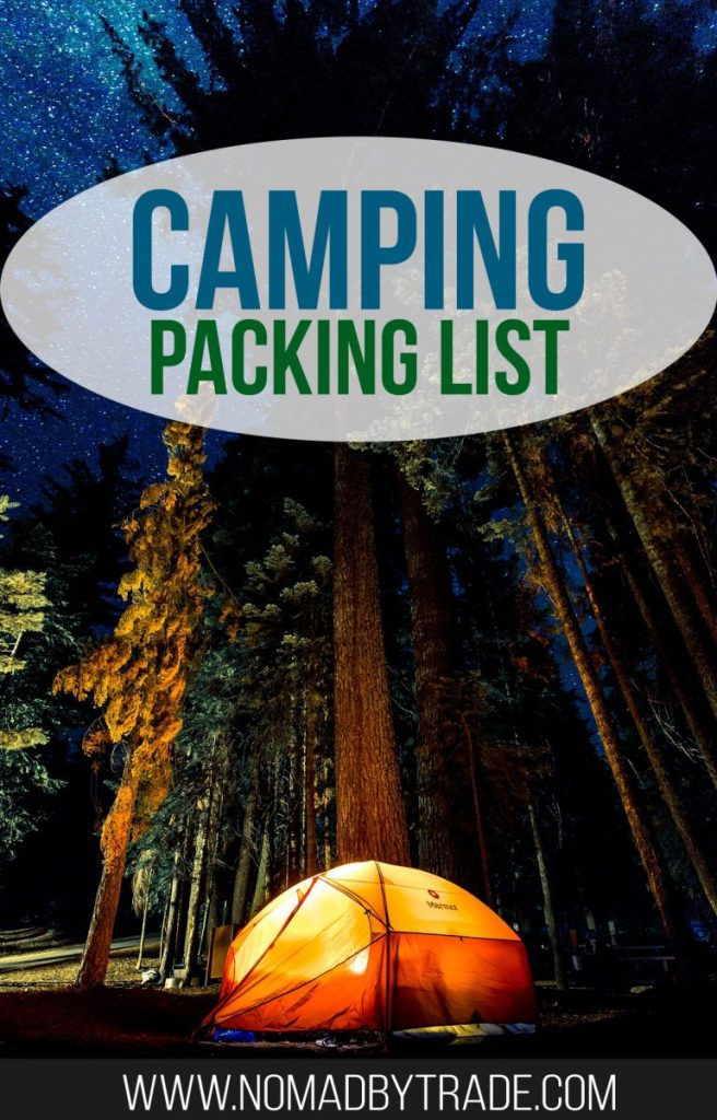Use this camping packing list to make sure you're fully prepared for your trip. It features all of the camping equipment and camping supplies you'll need, from basics like a tent to clothing to camp cooking gear. #PackingList | #Camping | #CampingGear | What to bring camping | Family camping tent | Camping tools | Camping equipment | Camping supplies | What to buy for camping