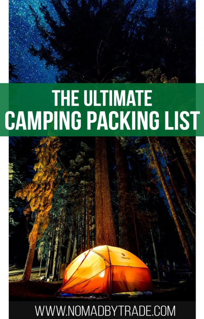 Use this camping packing list to make sure you're fully prepared for your  trip ...