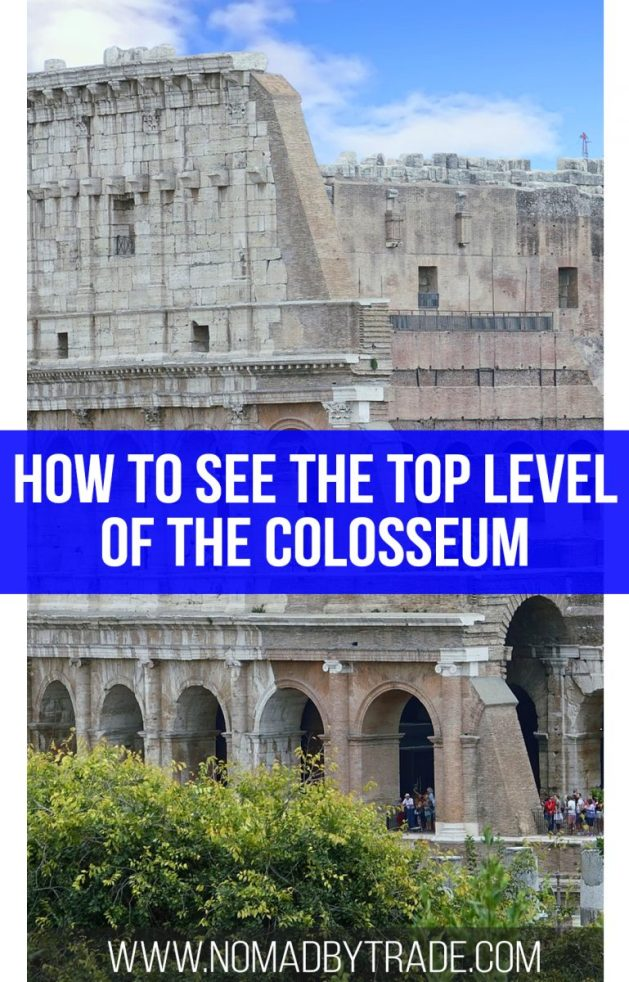 With a chance to visit the arena floor, underground, and top level of the Colosseum, plus the Roman Forum and Palatine Hill, this half-day tour is one of the best ways to experience historic Rome, Italy. Don't miss the view from the fifth level of the Colosseum! | Things to do in Rome | Best Rome tours | How to visit the Colosseum | Visit the fifth level of the Colosseum | Colosseum tour with the Roman Forum | What to do in Rome, Italy | #Rome | #Italy | #Colosseum