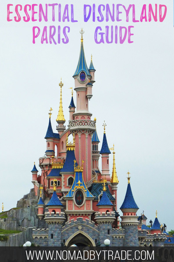 "Sleeping Beauty Castle at Disneyland Paris with text overlay reading ""Essential Disneyland Paris Guide"""