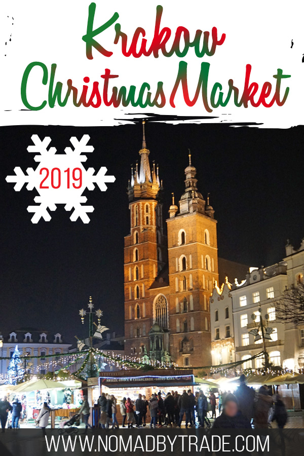 Krakow Christmas Market 2019 with text overlay
