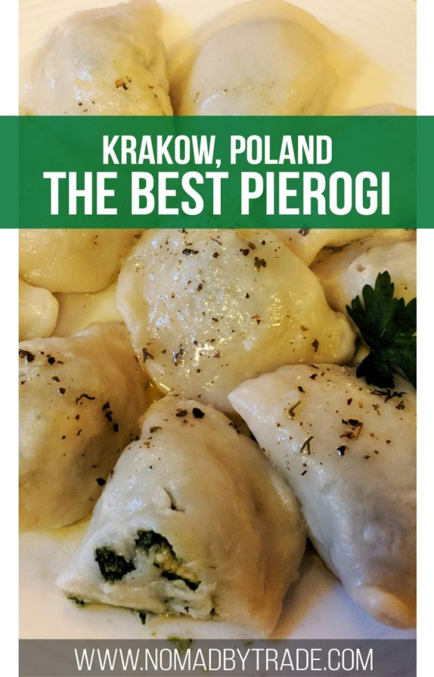 If you're wondering where to eat in Krakow, look no further than Pierozki U Vincenta aka Pierogi Mr. Vincent. The unique and delicious flavors make the offerings here the best pierogi in Krakow. | Polish food in Krakow | Places to eat in Krakow | Best food in Krakow | Krakow restaurants | #Krakow | #Poland | #Pierogi