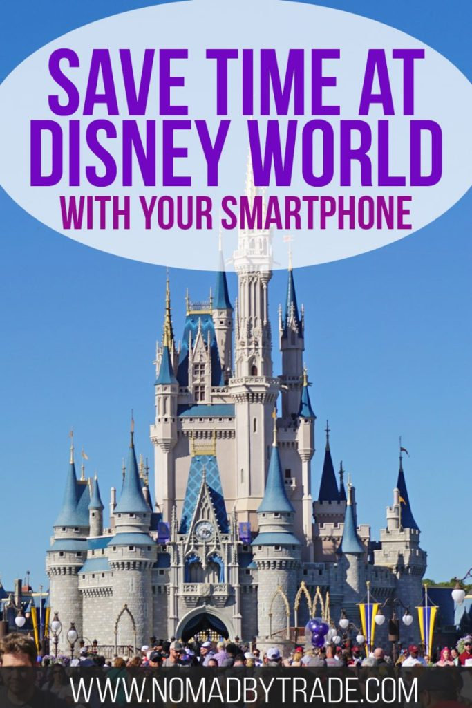 Save time at Disney World using your smartphone to make the most of your Disney vacation. Order counter service food, shop souvenirs from anywhere, and book your FastPasses on the fly. This post includes all the tips you'll need to use the free MyDisneyExperience app to make the most of your Disney vacation. You'll definitely want to take advantage of these time-saving Disney World tips. #DisneyWorld #Disney #Epcot #MagicKingdom #DisneyTips #DisneyVacation #TravelTips #USA