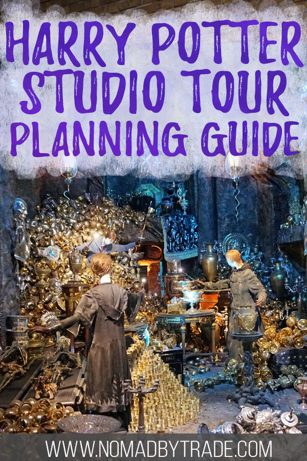 "Lestrange vault with text overlay reading ""Harry Potter Studio Tour planning guide"""