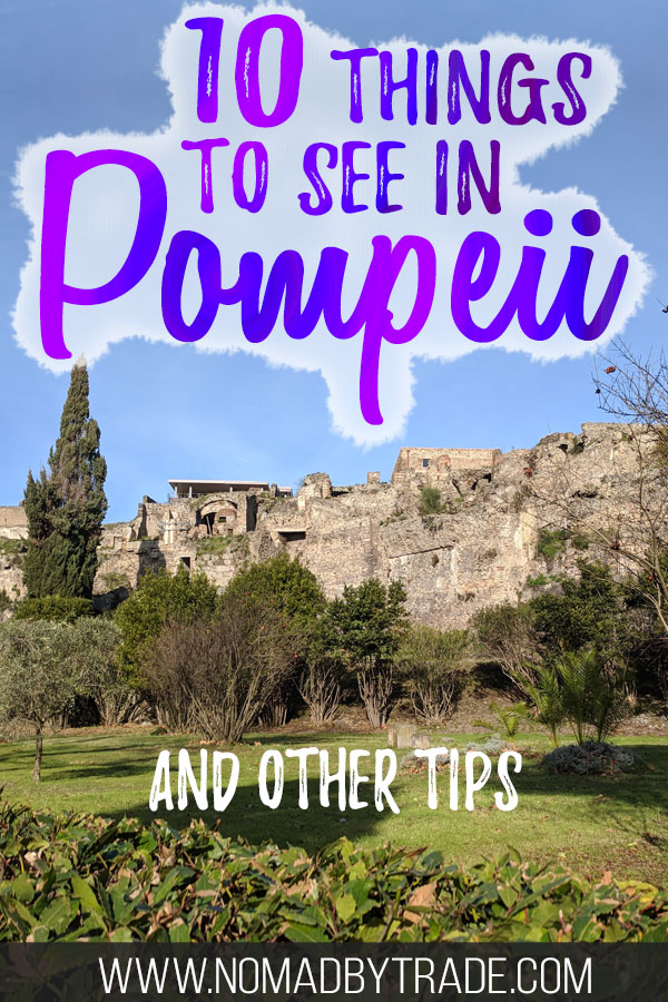 Photo of the Pompeii Archaeological Park with text overlay