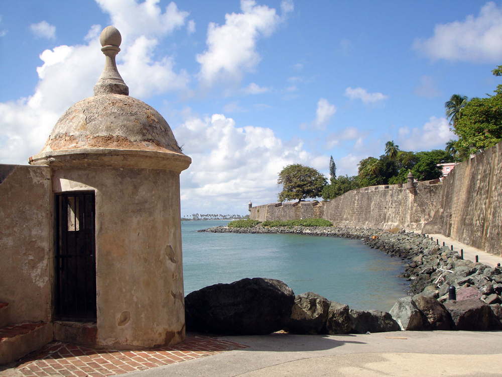 Fortifications at La Fortaleza UNESCO World Heritage Site in Puerto Rico