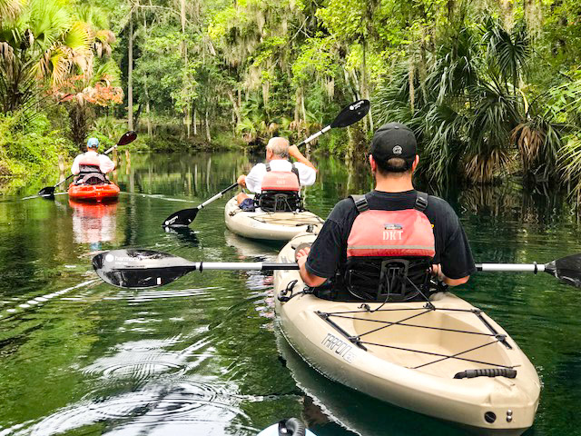 Group of kayakers at Silver Springs State Park
