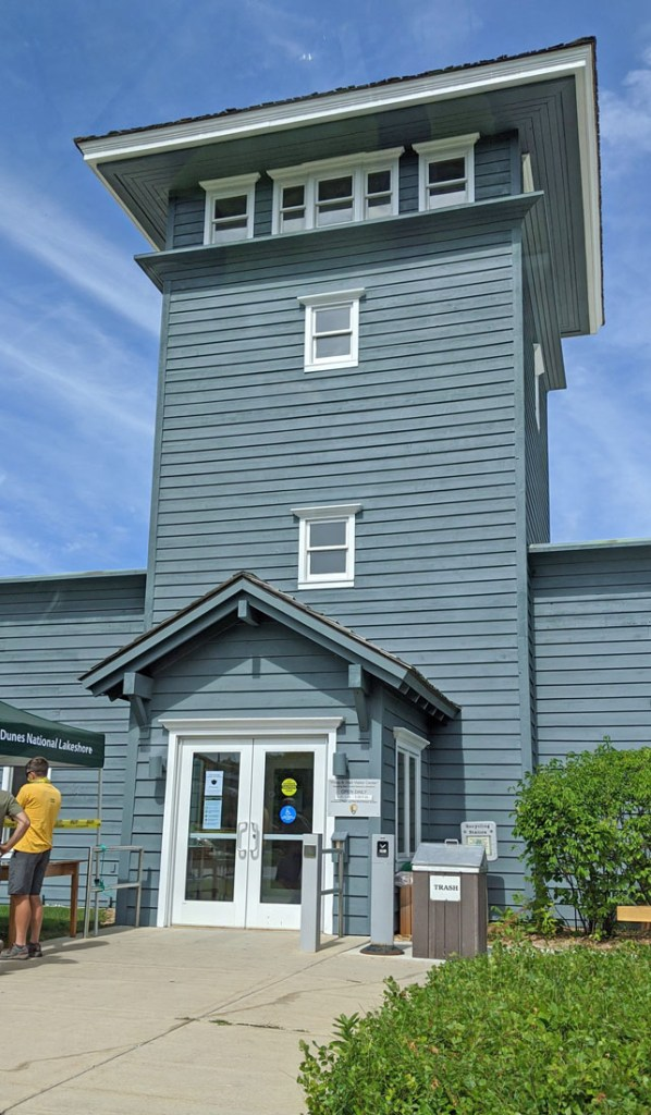 Exterior view of Philip A. Hart Visitor Center at Sleeping Bear Dunes National Lakeshore