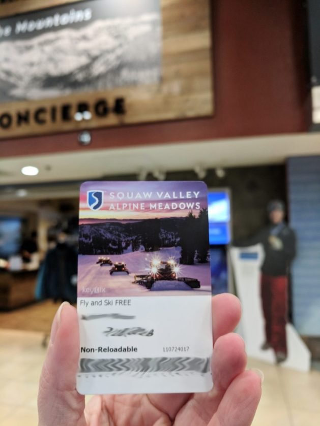 My free lift ticket to Squaw Valley at Lake Tahoe