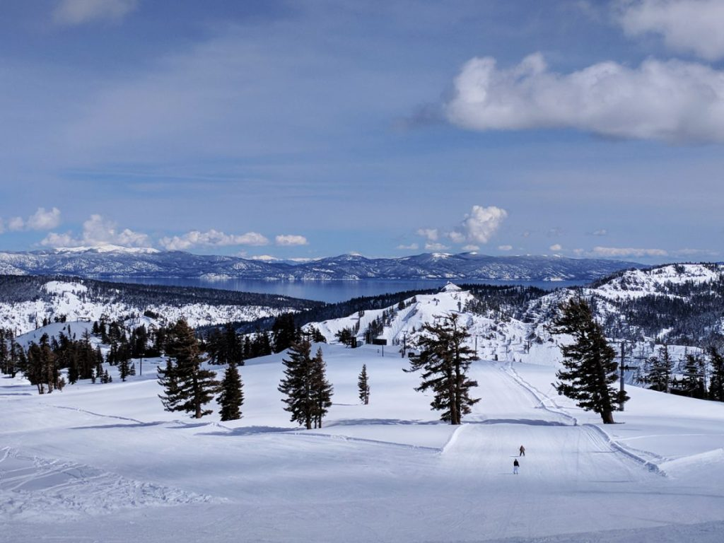 Ski runs at Squaw Valley in Lake Tahoe