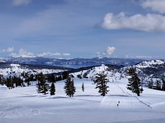 Ski runs at Squaw Valley in Lake Tahoe