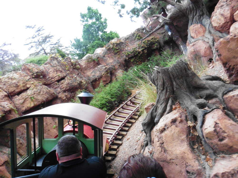 Big Thunder Mountain train at Disneyland