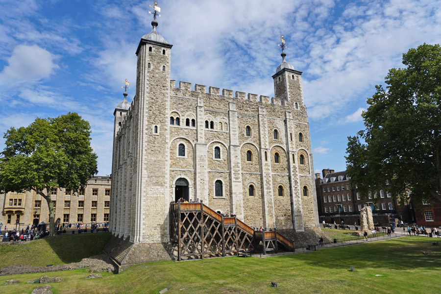 White Tower in the Tower of London, one of the top things to do in 3 days in London