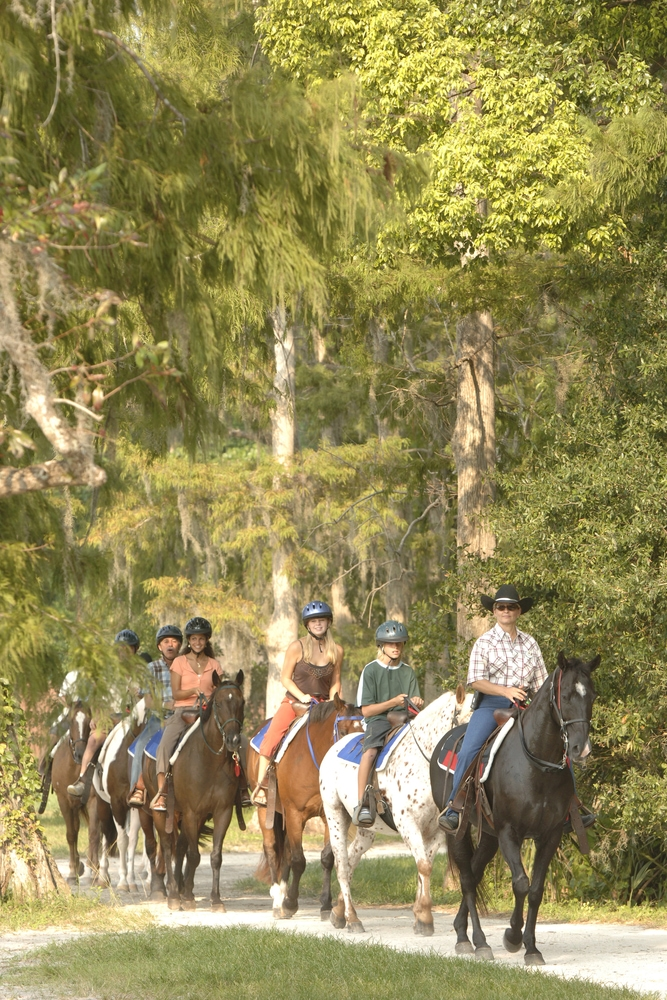 Horseback riding at Fort Wilderness at Disney World