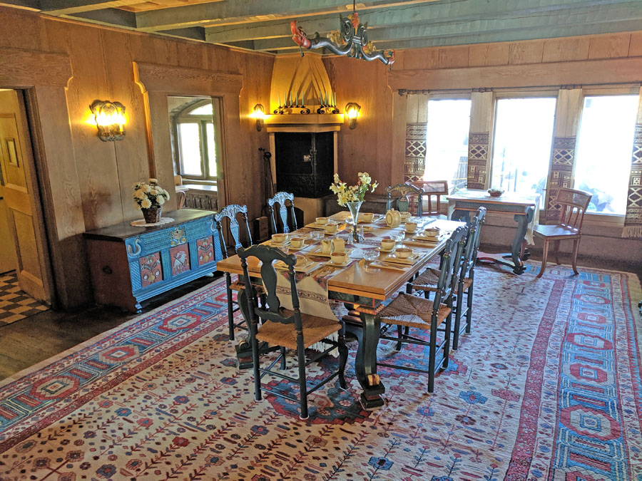 Vikingsholm Tahoe formal dining room