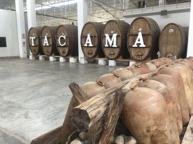 Wine barrels in Ica, Peru