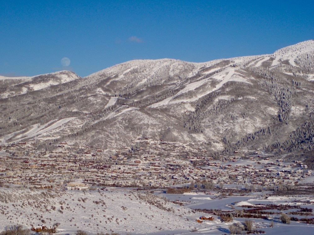 Moonrise Over Steamboat Springs