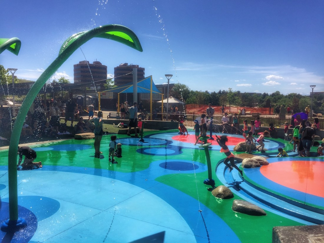 Cool Off at Centennial Center Park's Splash Pad