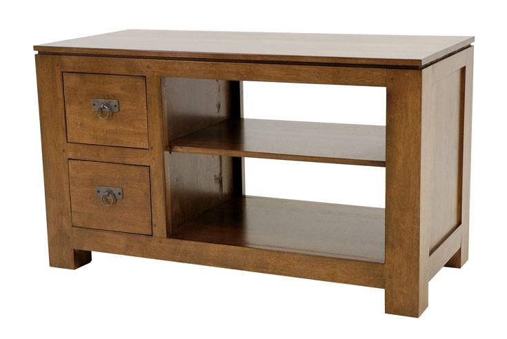 meuble tv 2 tiroirs court maya