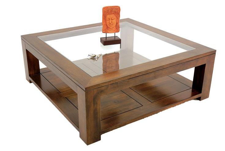 table basse carree vitree grande taille maya