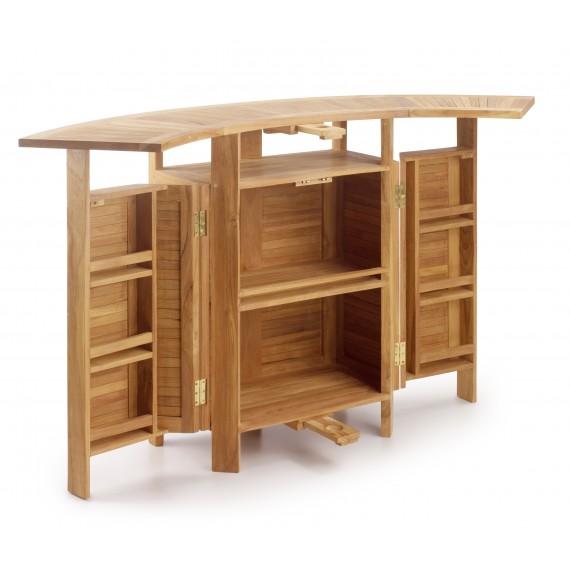 meuble bar touareg teck 2 rallonges pliant 98 180 70 106