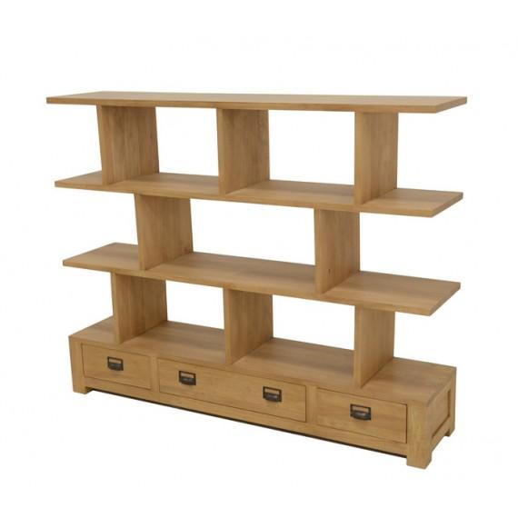 meuble bas 3 tiroirs surmonte d etageres
