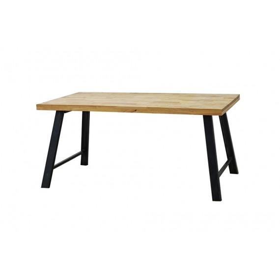table repas vintage industrielle 160 cm