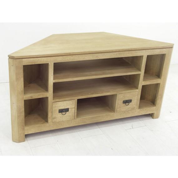 meuble tv angle 2 tiroirs maya